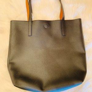 NWOT Black and Tan reversible tote bag